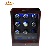High end Watch winder 9 Automatic watches box watch accessories Wooden watch storage box for father's day luxuty gift