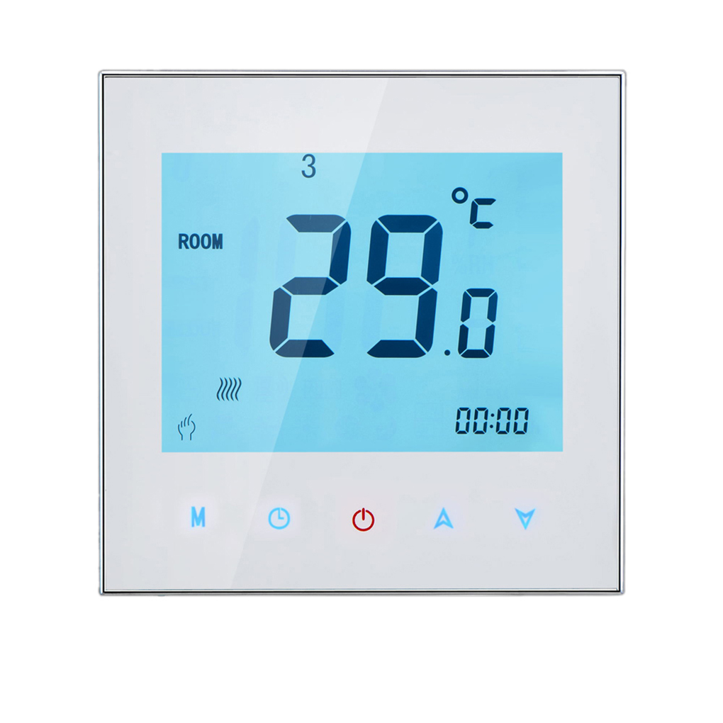 Accuracy LCD Touch Screen Programing Thermostat Water Boiler Heating Temperature Controller NTC Sensor