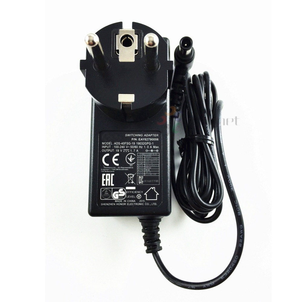 Amiable Eu Plug 19v 1.7a Ac Dc Adapter Spu Ads-40fsg-19 19032gpg-1 For Lg Led Lcd Monitor E1948s E2242c E2249 Power Supply Charger Computer & Office Laptop Accessories