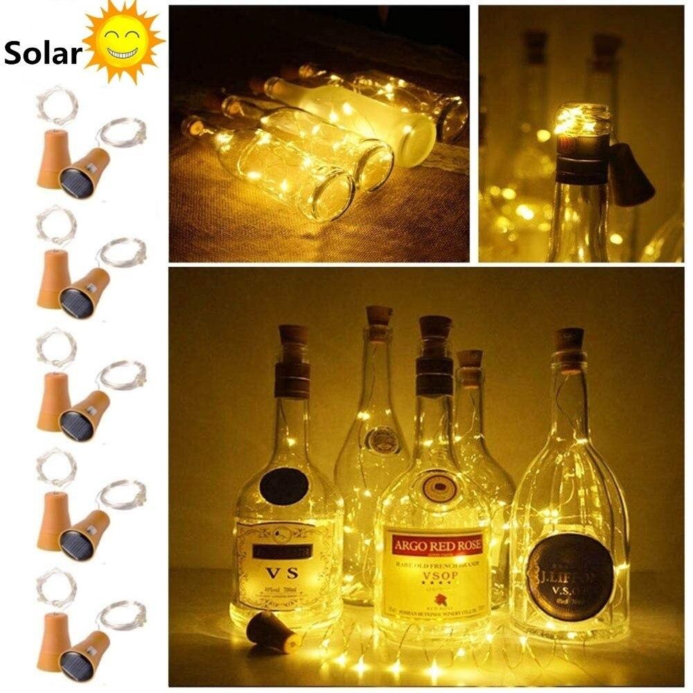 2 M 20led Solar Flasche Lichter Cork Geformte Nächte Fee String Licht Solar Licht Für Party Feier Geschenk Valentines Dekoration