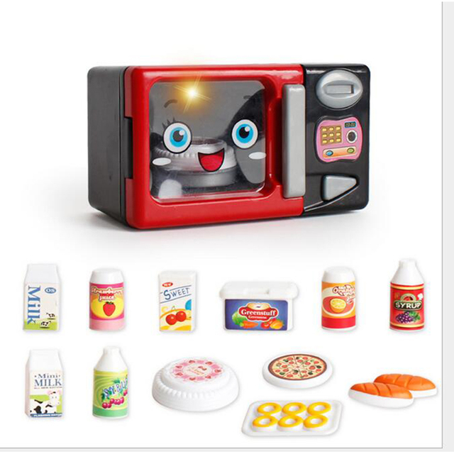Pretend Play Red Smile Kitchen Toys Household Liances Microwave Oven Models Set Toy For S Children