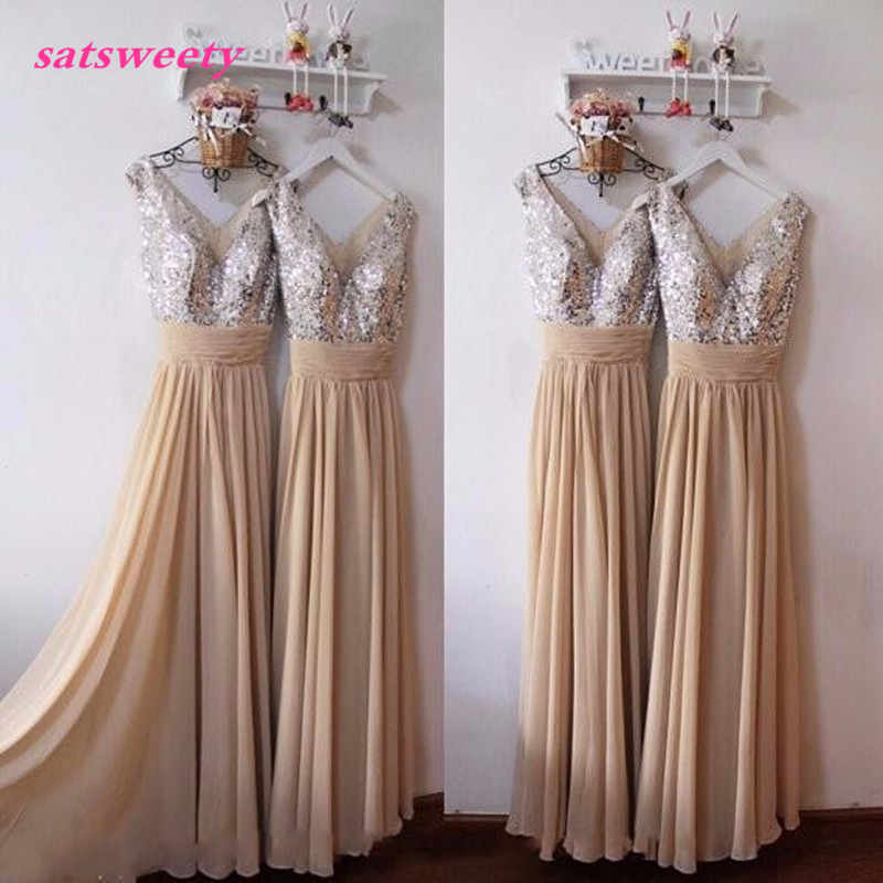 Satsweety Custom Color New Arrival Styles Long Chiffon A Line Pleated   Bridesmaid     Dress   2019 Wedding Party Prom   Dress