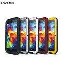 ЛЮБОВЬ МЭЙ Жизнь Водонепроницаемый Металлический телефон Case для SAMSUNG Galaxy S4 S5 S6 S7 край Плюс Примечание 2 3 5 4 Edge A3100 A5 A7 A9 Альфа case