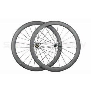 Image 2 - 700c estrada carbono rodas 1 par 38mm 50mm 60mm 88mm clincher tubular rodas de carbono com bitex r13 ou powerway r13, todo o mesmo preço