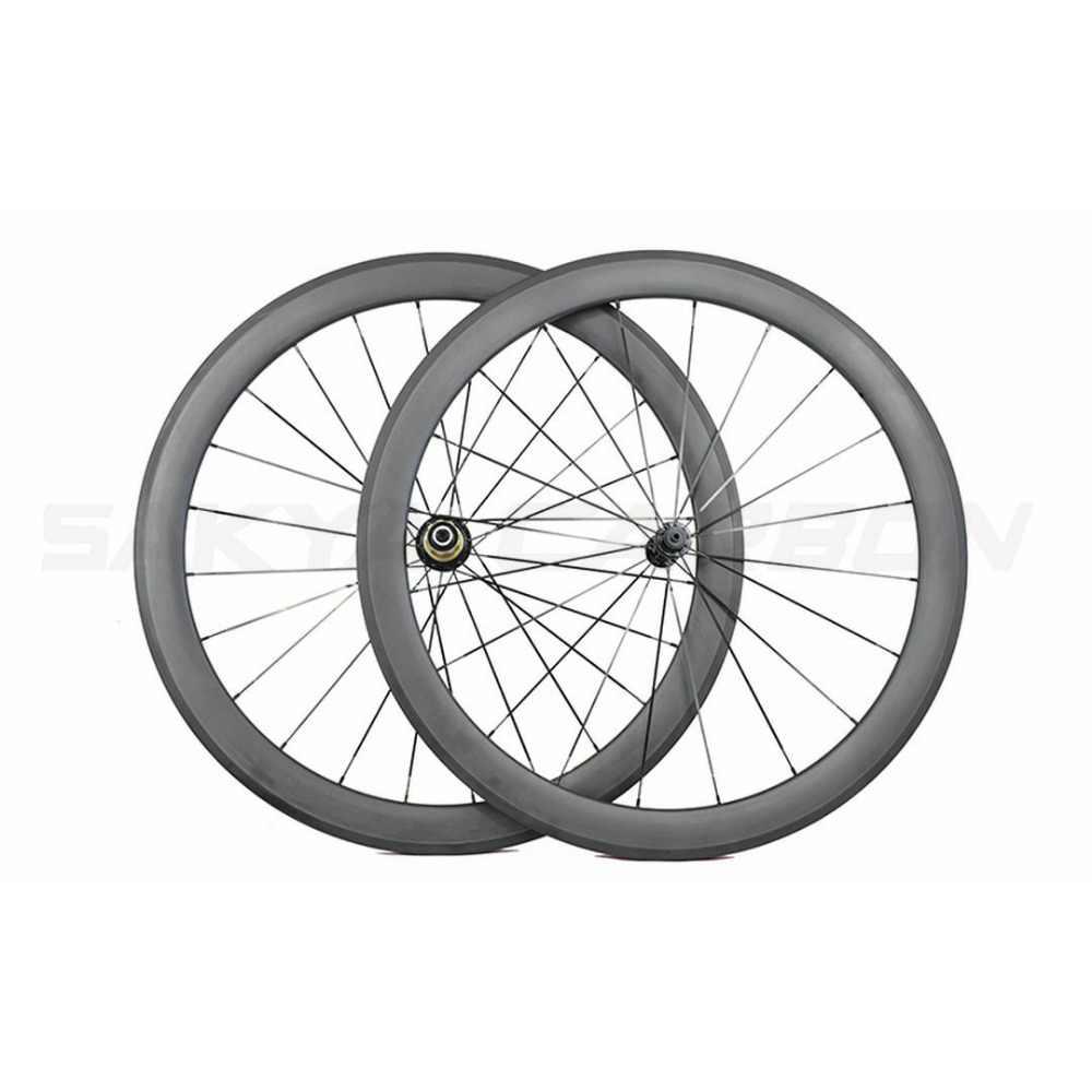 Roues carbone route 700C 1 paire 38mm 50mm 60mm 88mm roues tubulaires en carbone avec Bitex R13 ou Powerway R13, tous les mêmes prix
