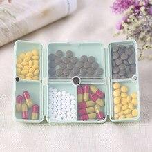 7 dni pudełko na pigułki z dniami tygodnia składany leki na podróż uchwyt na pudełko na pigułki przechowywanie tabletu przypadku w płynie pojemnik dozownik organizator 3 kolory