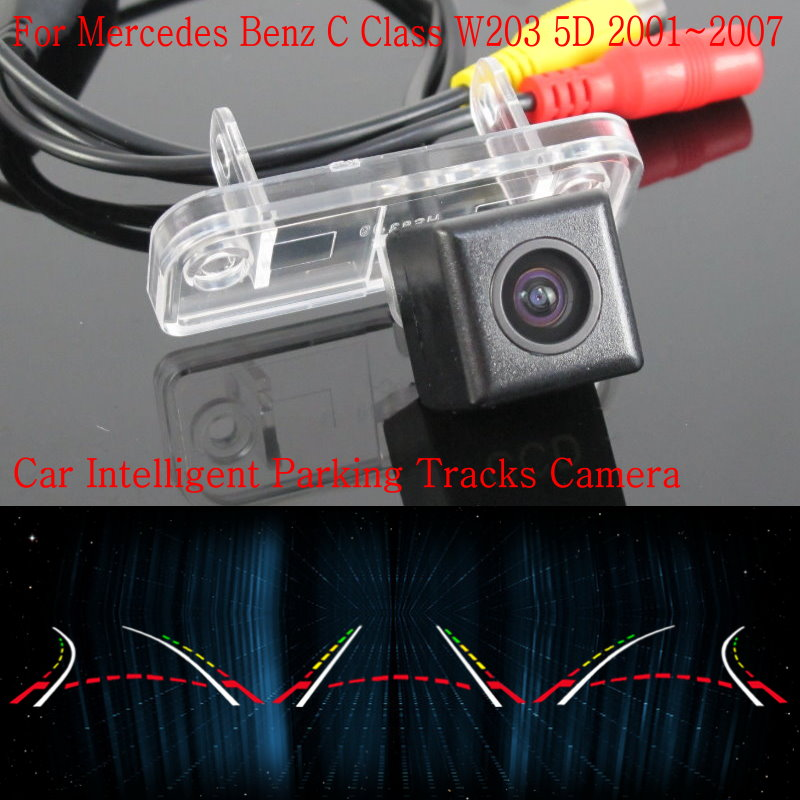Lyudmila Car Intelligent Parking Tracks Camera FOR Mercedes Benz C Class W203 5D / Back up Reverse Rear View Camera / HD CCD lyudmila car intelligent parking tracks camera for hyundai creta ix25 2014 2017 hd back up reverse car rear view camera