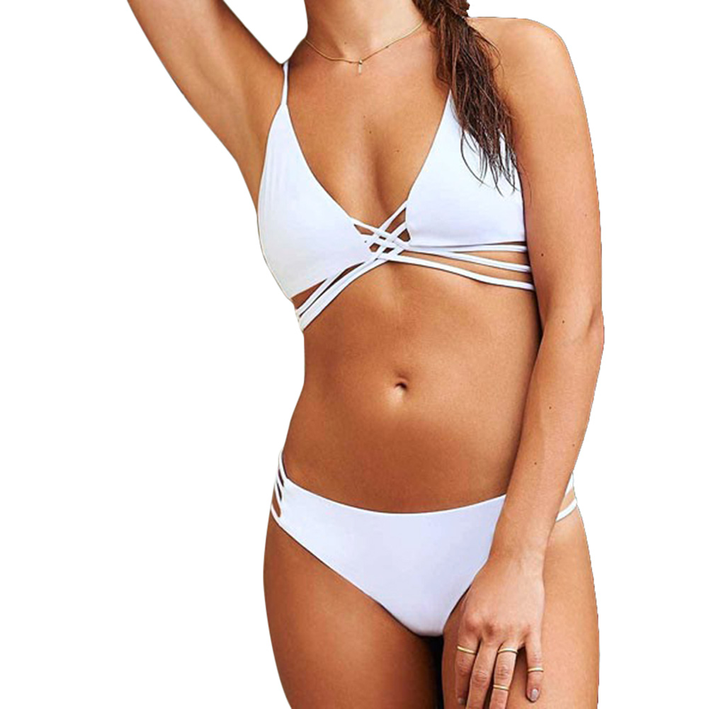 Women Push up Two piece Monokini Padded Bikini Set Swimwear Bathingsuit