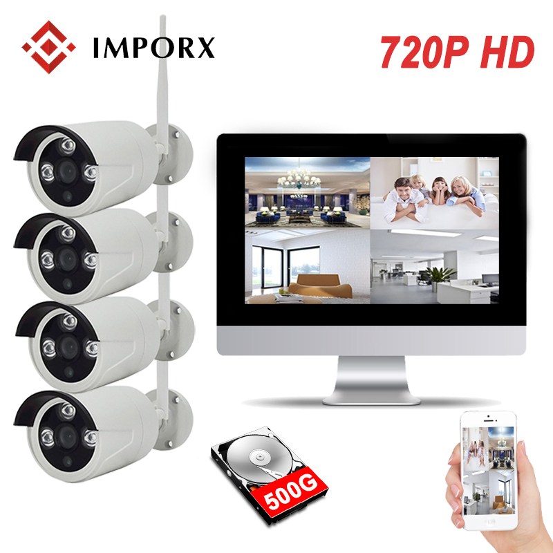 IMPORX 4CH CCTV System Wireless 720P 13\
