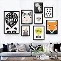 Estilo nórdico moderno minimalista pintura Decorativa da sala de estar quarto murais pintura de pequeno fresco dos desenhos animados das crianças