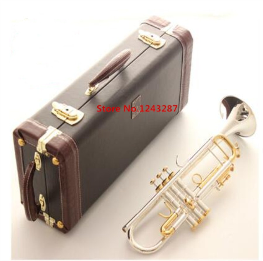 Bach Trumpet LT180S 72 High quality New American trumpet  silver plateds Gilding Musical instruments Professional performance quadraspire 180 19 ножки new silver
