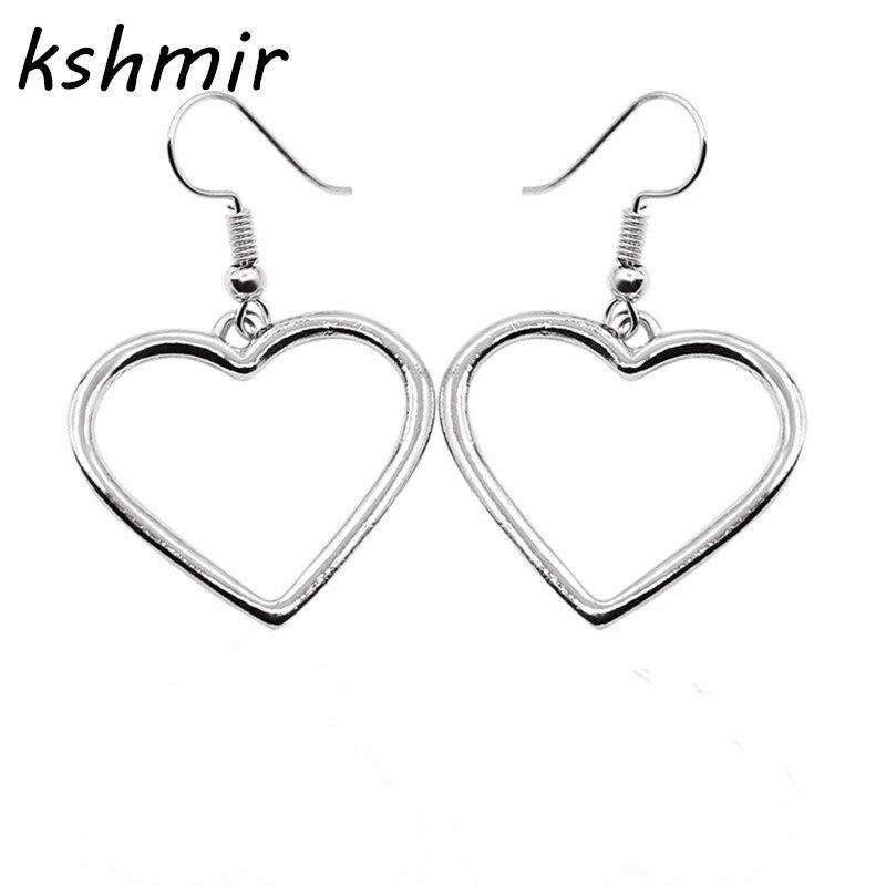 Fashion simple hollow heart shaped earrings eardrop golden love Girl girl eardrop beautiful gift 885a