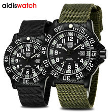 Nylon Watchband Fashion Casual Men's Noctilucent Quartz Wristwatch Waterproof Outdoor Sports Special Military Form Watches