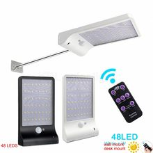 desk wall mount Upgraded 48 LED Solar Light Ultra-thin Wireless PIR Motion Sensor Solar Lamp Ip65 Waterproof Outdoor Lighting Li(China)