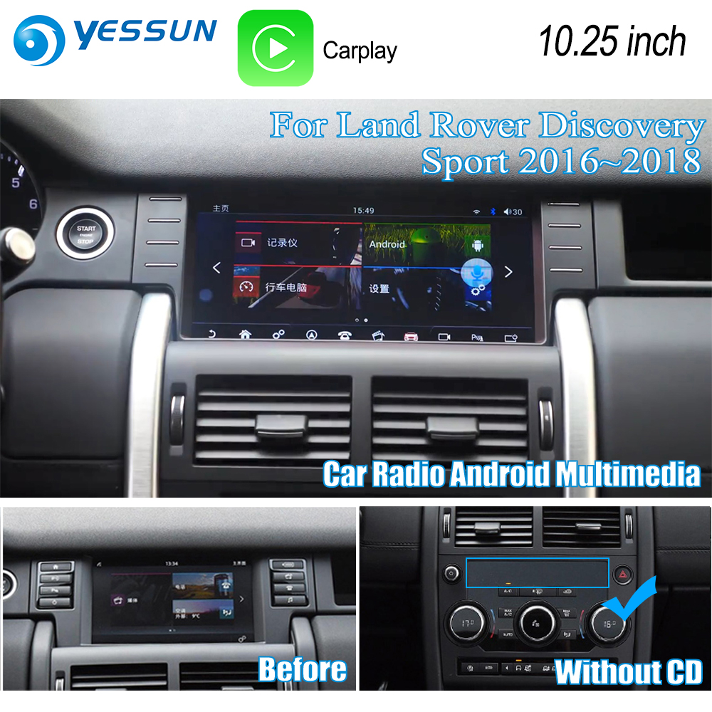 YESSUN 10.25 pour Land For Rover Discovery Sport 2016 ~ 2018 voiture Android Carplay GPS Navi cartes lecteur Radio multimédia WiFi