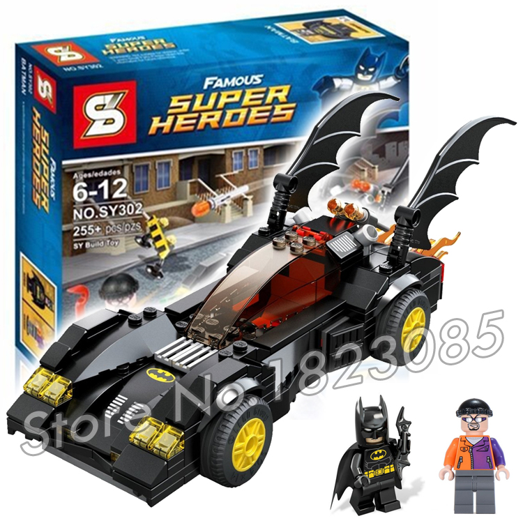 ФОТО 255pcs bela sy302 dc comics batman batmobile two-face chase model building bricks minifigures bricks toy compatible with lego
