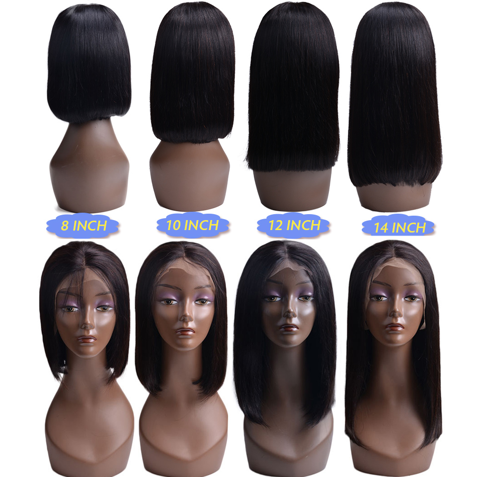 1B-613-Ombre-Blonde-Lace-Front-Human-Hair-Wigs-For-Black-Women-Brazilian-Short-Bob-Straight