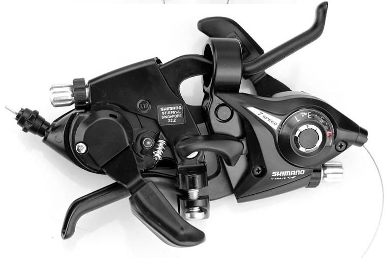 NUOVO Freno Della Bicicletta MTB Comandi Mountain Bike Disco Freno Shifter Set Ciclismo Leve Freno e Leve Del Cambio 3x7 3x8 s ST-EF51-7 8