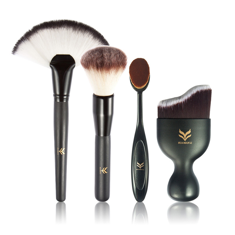 Hot Sale 4pcs/Set High Quality Base Makeup Brushes Combo Tools Face Powder Blush Foundation Make Up Brush Tools 6 4 4m bounce house combo pool and slide used commercial bounce houses for sale