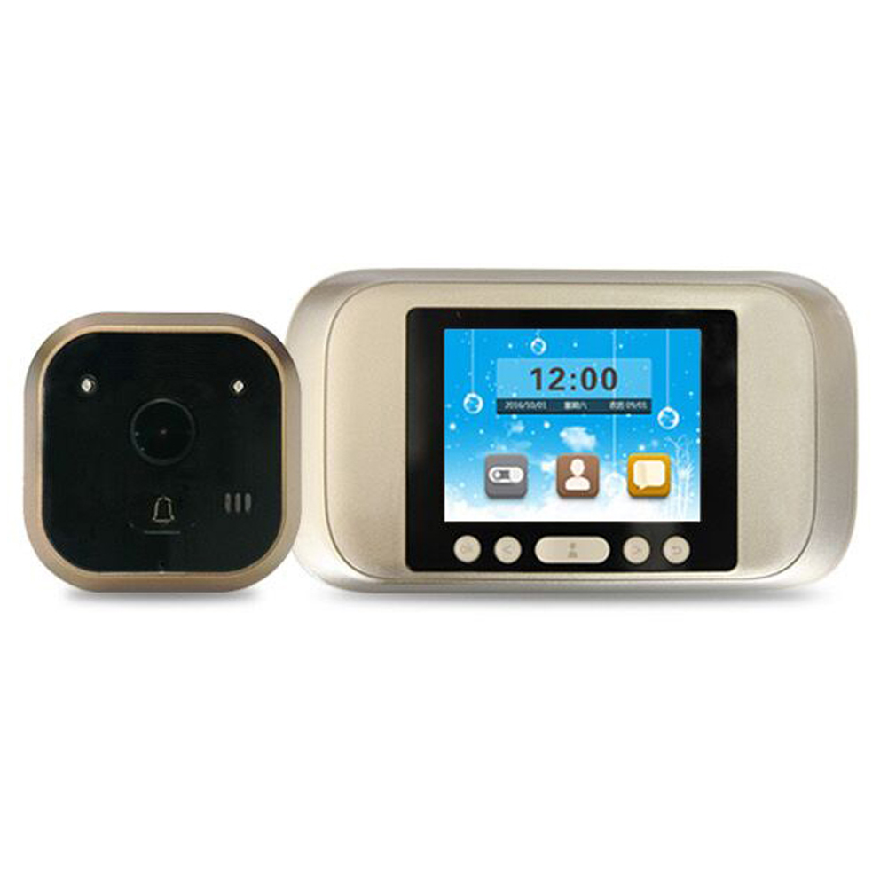 цена на 3.2 Inch LCD Peephole Viewer Camera Door 720P HD Screen Doorbell Eye Video Record 160 Degrees Night Vision