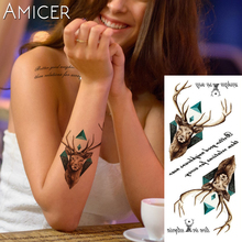 1 piece Fantasy Color Parrot hummingbird Hot Large animal Temporary Tattoo Waterproof Tattoo Sticker for women men
