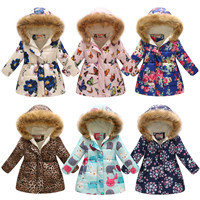 Winter Girls Warm Down Jackets Kids Fashion Printed Thick Outerwear Children Clothing Autumn Baby Girls Cute Jacket Hooded Coats (11)_