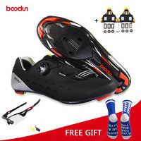 Boodun Ultraleicht Carbon Rennrad Schuhe Atmungs Auto-Lock Bike Fahrrad Schuhe Sportlich Racing Zapatos Ciclismo