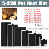 5-45W Terrarium Reptiles Heat Mat Climbing Pet Heating Warm Pads Adjustable Temperature Controller Mats Reptiles Supplies