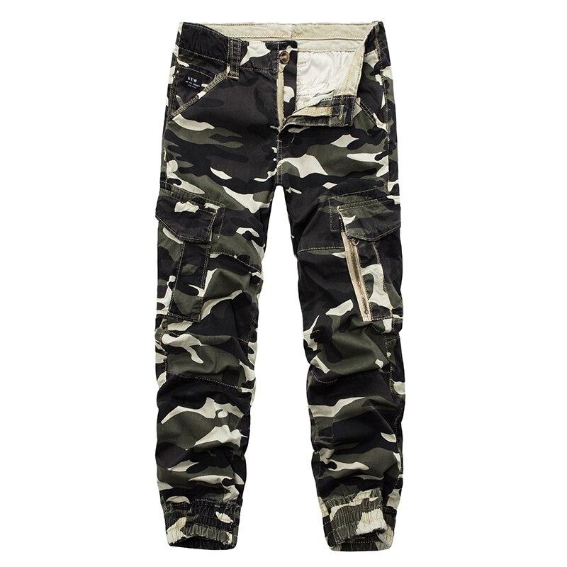 Men Camo Cargo Pants 2019 Mens Baggy Tactical Trouser HipHop Cotton Multi Pockets Pants Streetwear Joggers Sweatpants Army Pants