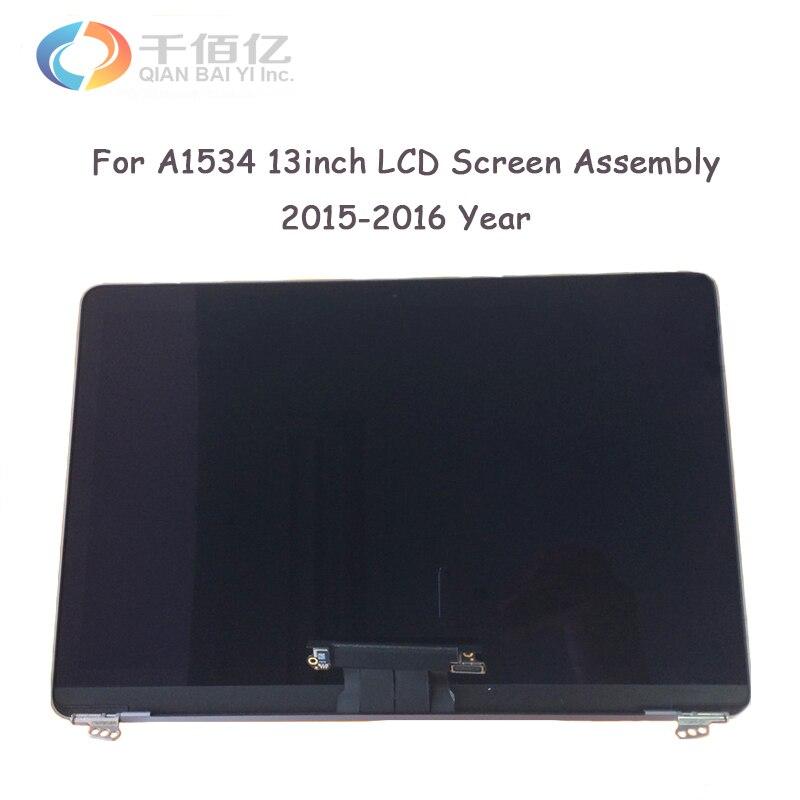 100% tout nouveau gris or rose argent A1534 lcd écran assemblée pour Macbook pro A1534 12 ''lcd affichage assemblée 2015 2016 an