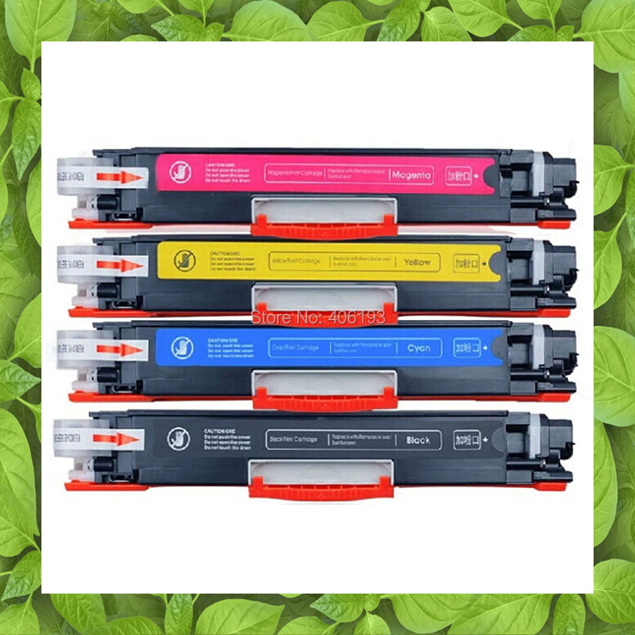4 X CE310A CE311A CE312A CE313A For HP CP1025 Nw CP 1025 CP1025nw MFP M175 M175a 175 M275 275 Color Toner Cartridge