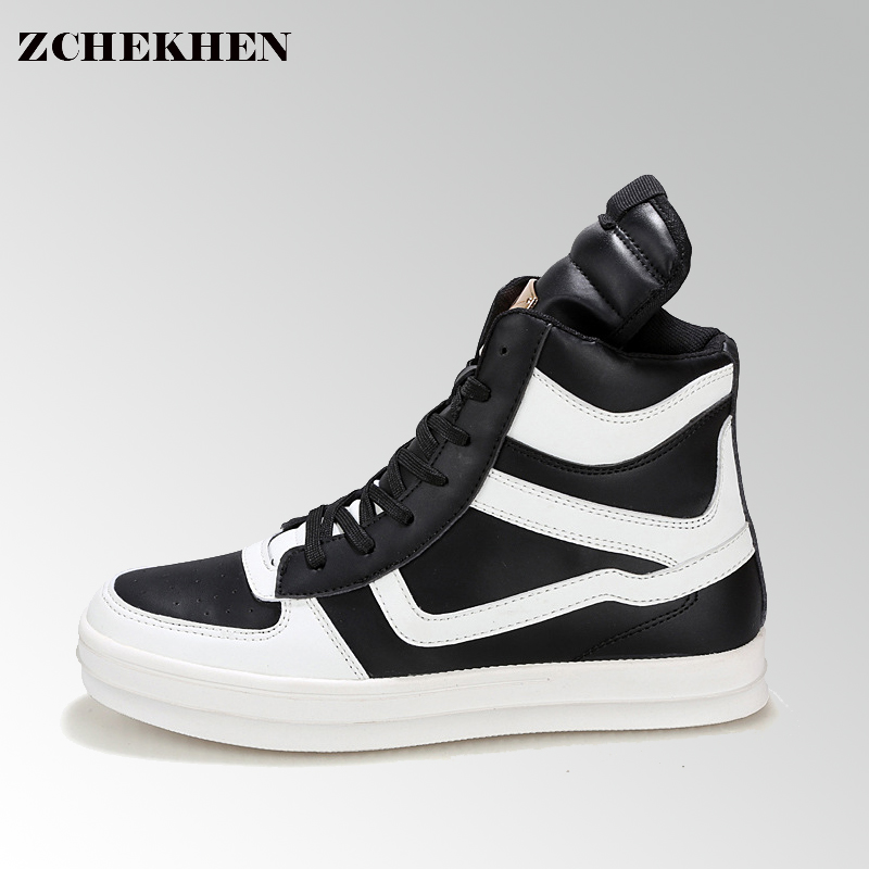 Casual dancing Sneakers Hip Hop Shoes High Top Casual Shoes Men Patent Leather Flat Shoes zapatillas deportivas hombre #61 gram epos men casual shoes top quality men high top shoes fashion breathable hip hop shoes men red black white chaussure hommre