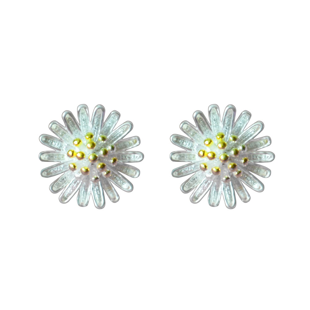 QIAMNI-925-Sterling-Silver-Beautiful-Accessories-Sweet-Yellow-Daisy-Flowers-Stud-Earrings-for-Women-Girls-Vintage