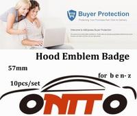 Wholesale 10pcs/lot Hood Emblem Badge For w124 w140 w163 w202 w203 w204 w210 w211 car styling