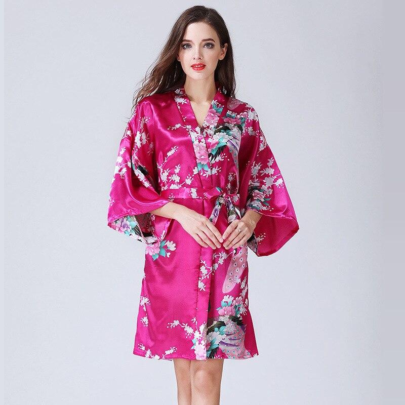 Frauen Lange Robe Marke Neue Damen Faux Silk Floral Sommer ...