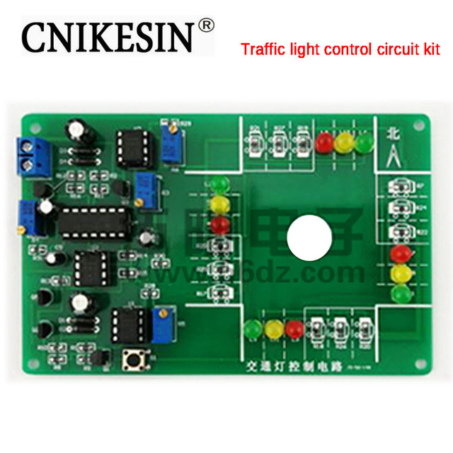 cnikesin diy kit traffic light control circuit kit electronic