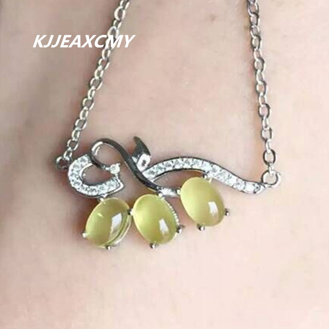 KJJEAXCMY boutique jewelry,Natural stone pendants, pendants, jewelry wholesale, S925 sterling silver wholesale women цены онлайн