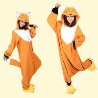 2017 New Fox Animal Cosplay Pajamas Onesie Women S Costume One Piece Adult Pyjamas Sleepwear For