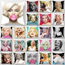 Marilyn Monroe blow bubbles pillow case double  sides pattern cases cover square covers size 45*45cm