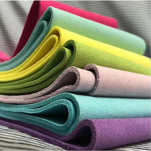 Tecidos De Couro da Camurça do falso Couro do PLUTÔNIO para o Material Decorativo Pele De Couro Microfibra Couro Artificial para Material de costura DIY