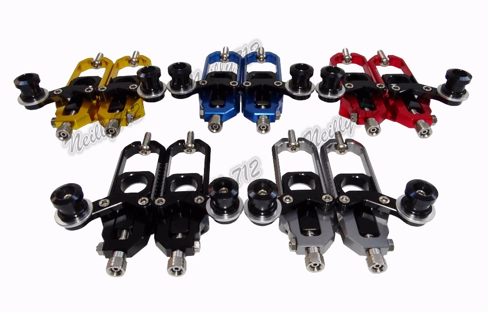 waase Chain Adjusters with Spool Tensioners Catena For <font><b>Honda</b></font> CBR1000RR <font><b>CBR</b></font> <font><b>1000</b></font> <font><b>RR</b></font> <font><b>2008</b></font> 2009 2010 2011 2012 2013 2014 2015 2016 image