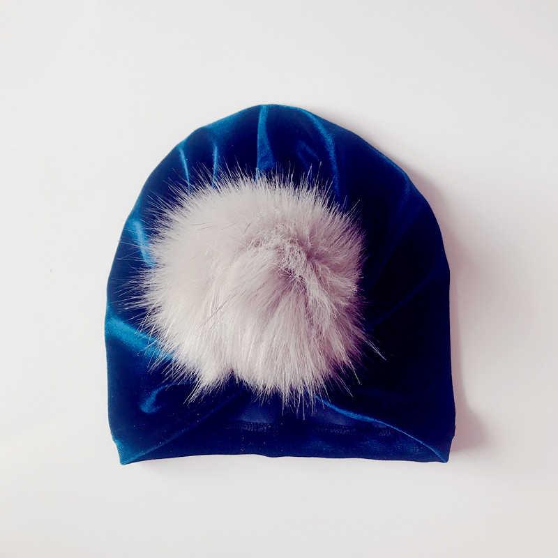 2018 תינוקת כובע חמוד בנות כובעי שיער אביזרי רך כותנה ילדי כובע יילוד תינוק כובע כובע כפה בציר ילדים כובעי 0-2Y