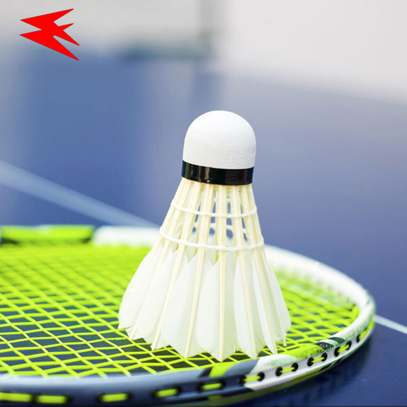12 pcs Badminton Shuttlecock Good Flight Durability Duck Feather Shuttlecocks Badminton Sports