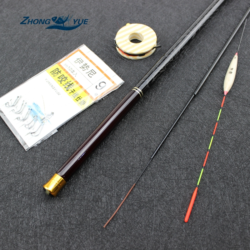 2017NEW 3.6M-7.2M Carbon Fiber Telescopic Fishing Rod Set Super Hård Ultra Light Carp Fishing Pole Stream Fishing Rod