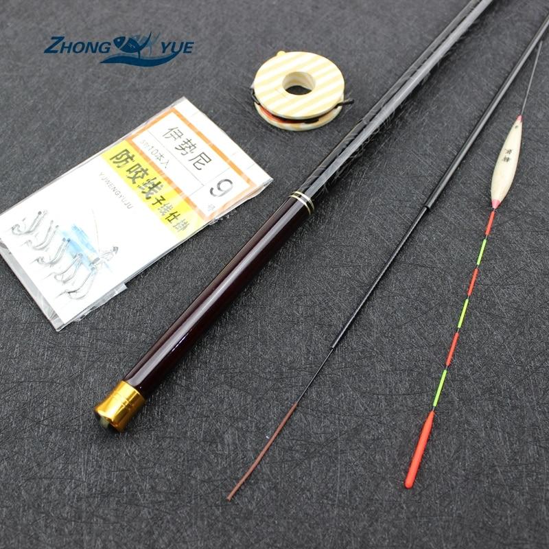 2017NEW 3.6M-7.2M Carbon Fiber Telescopic Fishing Rod Set Super Hard Ultra Light Carp Fishing Pole Stream Fishing Rod