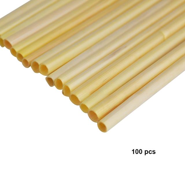 Eco Friendly Biodegradable Wheat Drinking Straws 100 Pcs Set