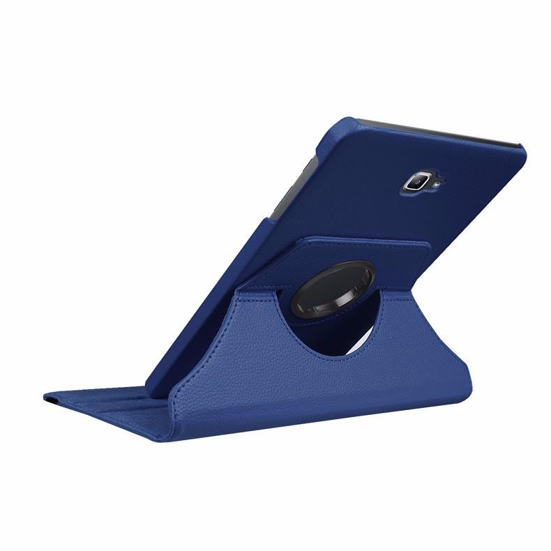 вкладка чехол на планшета samsung Галактика вкладка 10.1 2016 для samsung галактики 10.1 2016 см-t580 случае t585 360 градусов вращающийся стенд планшет чехол + протектор экрана + стилус