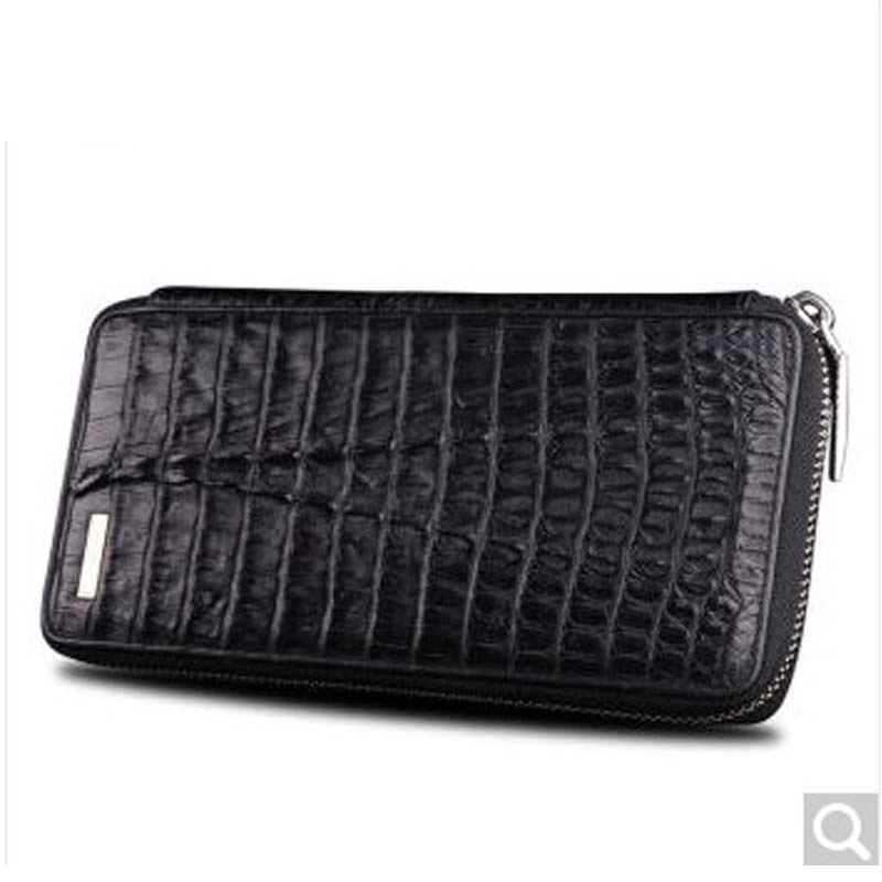 Beijue Crocodile leather men's clutch bag crocodile leather large zip stitching wallet Black crocodile crocodile cr225r black gold page 8