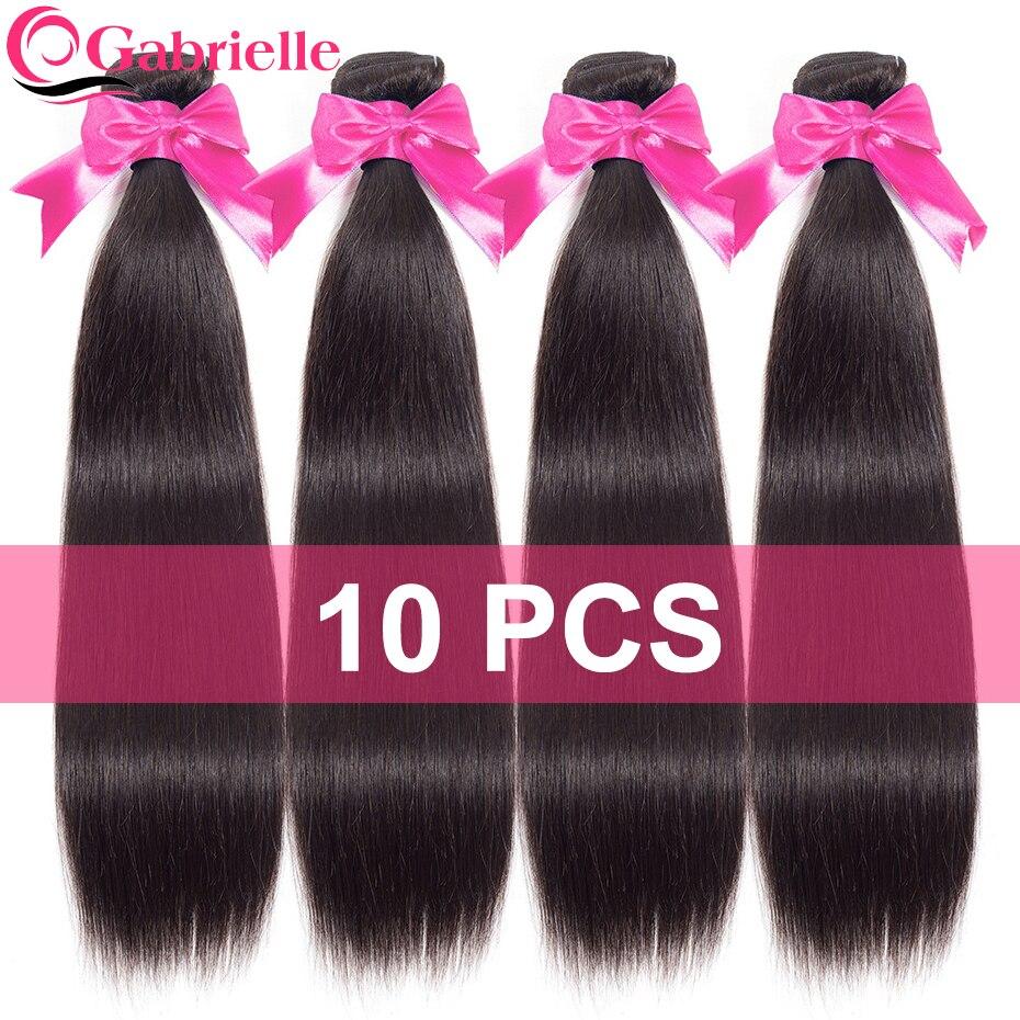 Gabrielle Human Hair Bundles 10 pcs Deal Free Shipping Brazilian Straight Hair Weave 8 26 inch