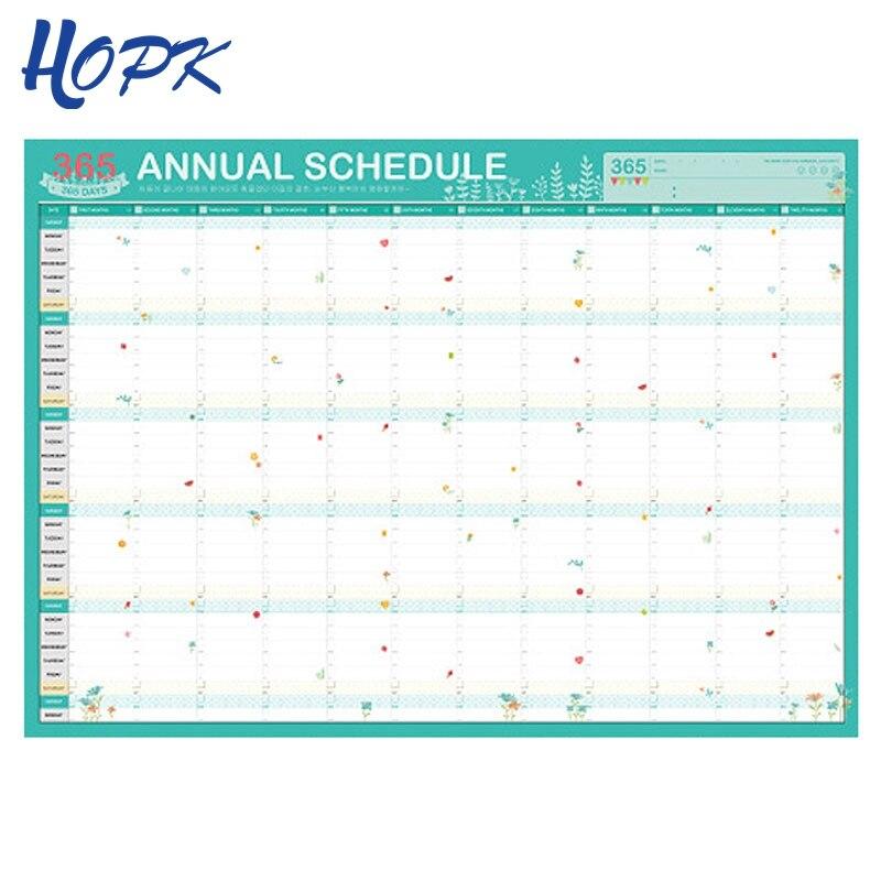 2019 Cartoon 365 Tage Wand Kalender Papier Jährlich Kalender Planer Tag Zeitplan Agenda Neue Jahr Planer Geschenk 7 Arten Office & School Supplies